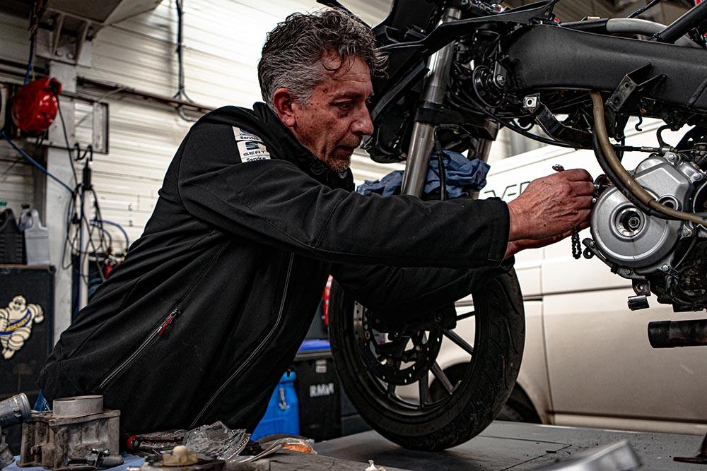 motorfiets onderhoud